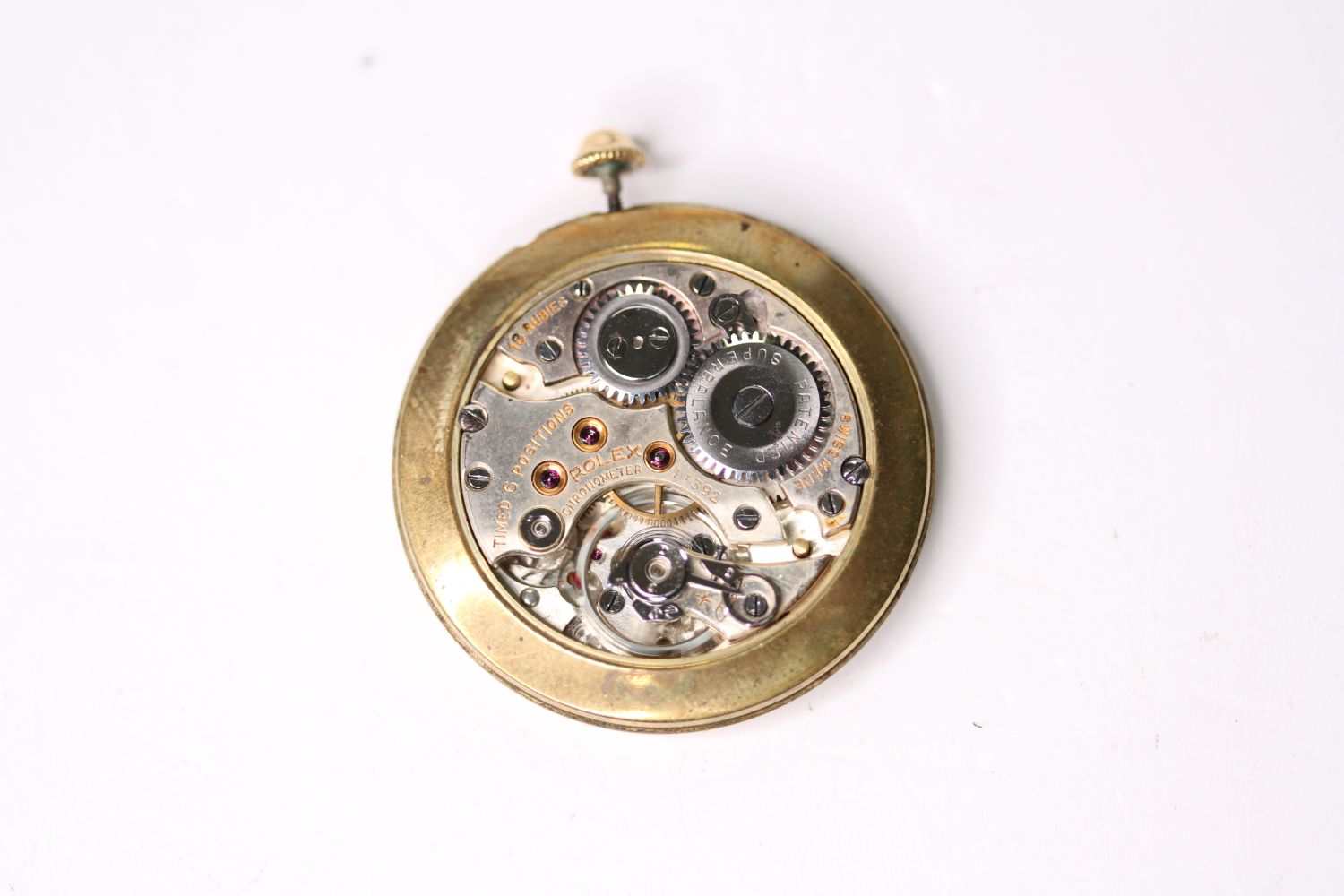 VINTAGE ROLEX OVERSIZE WRISTWATCH CIRCA 1940s, circular silver dial with roman numerals and dot hour - Image 5 of 5