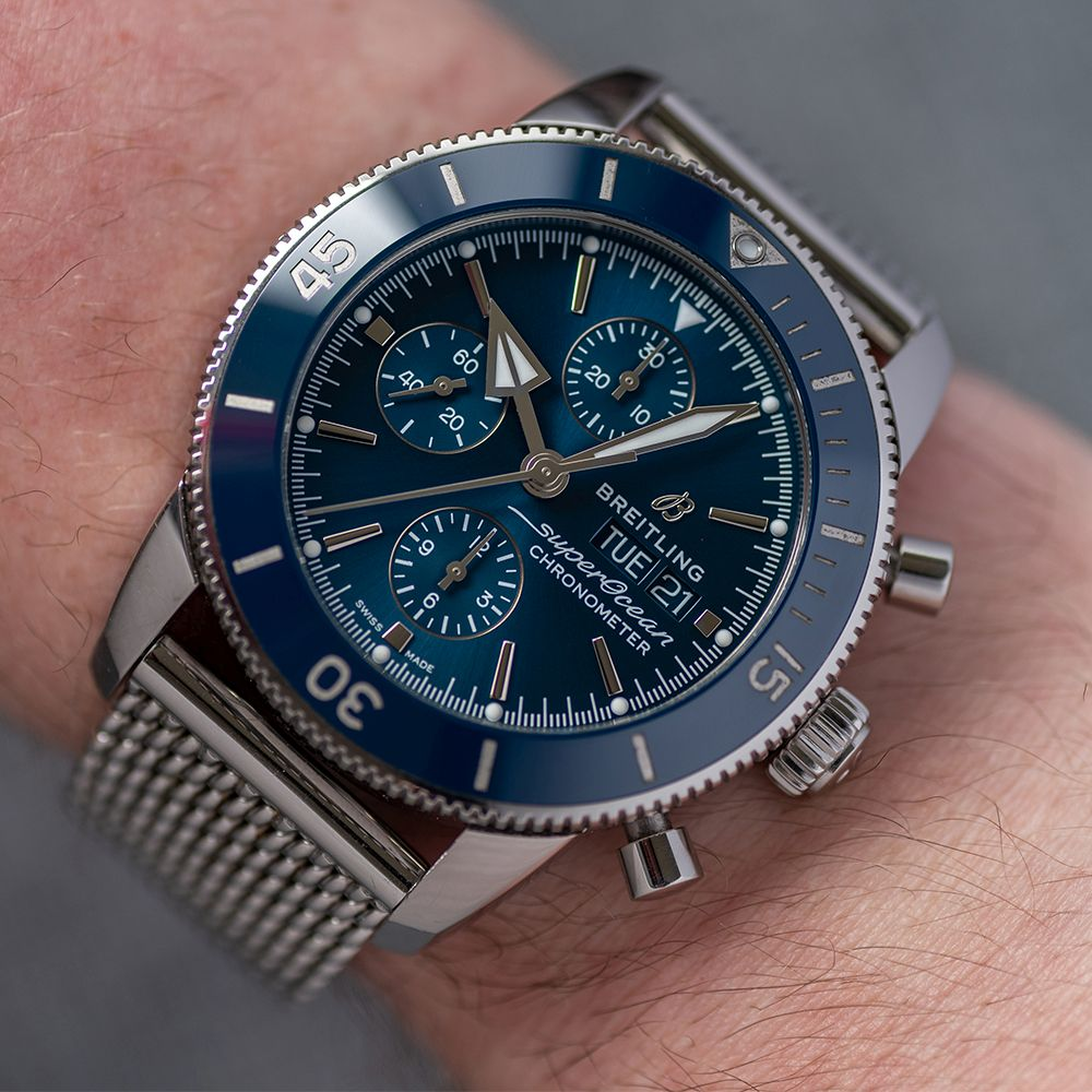 GENTLEMAN'S BREITLING SUPEROCEAN HERITAGE CHRONOGRAPH 44 BLUE , REF. A13313161C1A1, AUGUST 2018 - Image 4 of 10