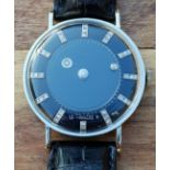 LECOULTRE AND VACHERON CONSTANTIN WRISTWATCH 1950S WITH DIAMOND MYSTERY 'GALAXY' DIAL IN 14CT