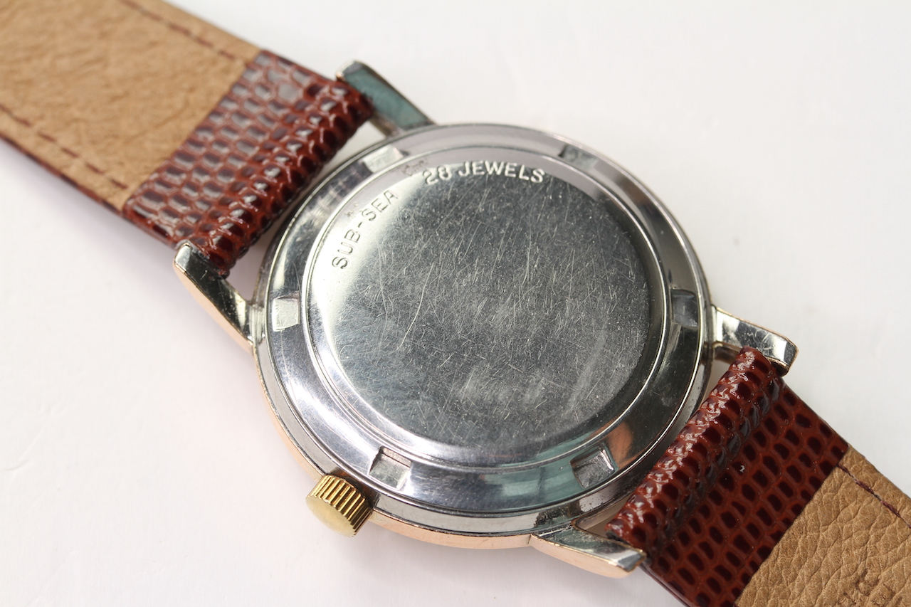 VINTAGE MOVADO SUB SEA KINGMATIC AUTOMATIC WRIST WATCH, circular cream dial with baton hour markers, - Image 2 of 4