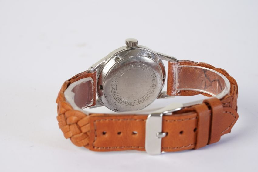 GENTLEMENS GRUEN PRECISION AUTOWIND WRISTWATCH, circular patina dial with arabic numeral hour - Image 2 of 2