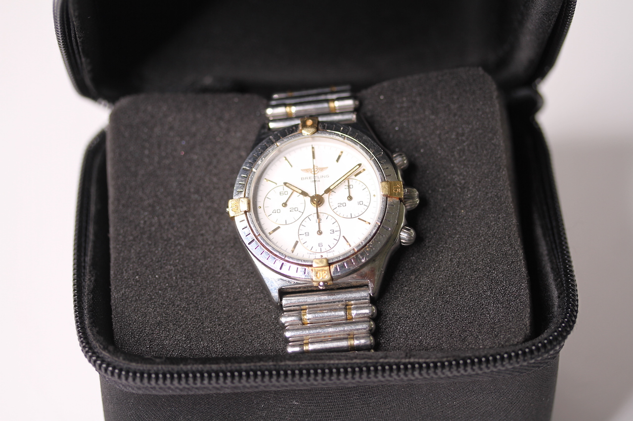BREITLING CALLISTO CHRONOGRAPH WITH BREITLING TRAVEL CASE REFERENCE 80520-D, circular white dial - Image 4 of 4
