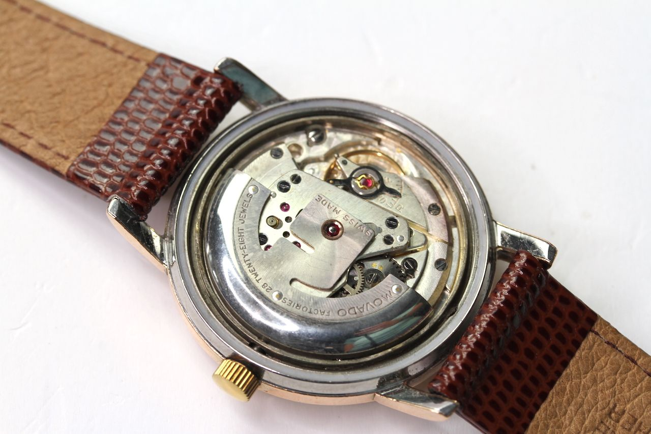 VINTAGE MOVADO SUB SEA KINGMATIC AUTOMATIC WRIST WATCH, circular cream dial with baton hour markers, - Image 4 of 4