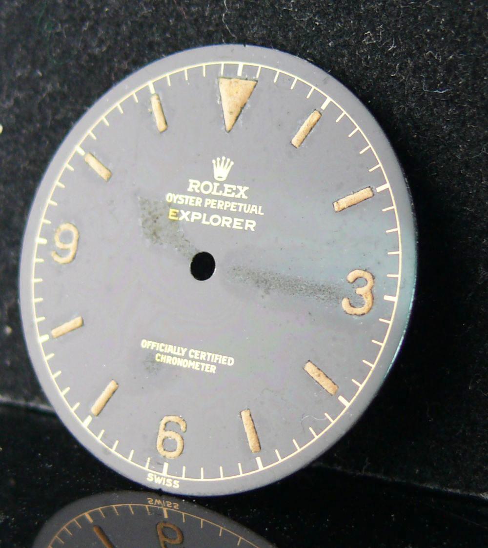 1950s Rolex Gents Explorer Dial Ref 6610, genuine 1950s rolex explorer dial showing some radium burn - Image 8 of 8