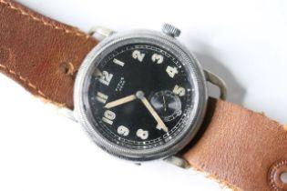 TITUS AERO GERMAN MILITARY FLIEGER PILOTS WATCH, circular black dial with arabic numeral hour