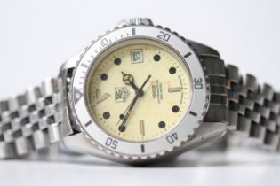 TAG HEUER PROFESSIONAL 1000 NIGHT DRIVER REFERENCE 6183 W 20, patina luminous dial, rotating grey