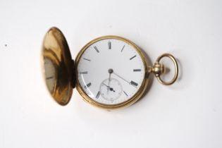 VERY RARE 18CT PATEK PHILIPPE FULL HUNTER POCKET WATCH CIRCA 1860, circular white dial with roman