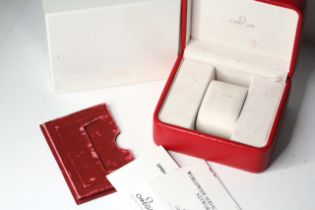 *TO BE SOLD WITHOUT RESERVE* OMEGA BOX AND BOOKLETS, comes with inner and outer box, Omega Seamaster