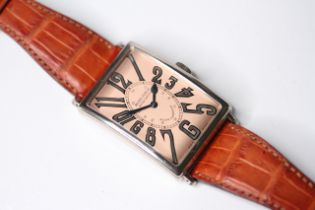GENTLEMAN'S 18CT ROGER DUBUIS HORLOGER GENEVOIS LIMITED EDITION, tonneau shape bronze dial with