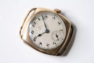 EARLY OMEGA TRENCH WATCH, circular dial, Roman numerals, Minute track and subsidiary seconds dial,