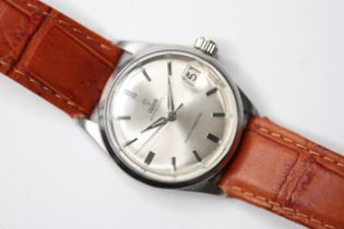 VINTAGE TUDOR OYSTERDATE REFERENCE 7961, circular sunburst silver dial with baton hour markers, date