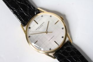 VINTAGE 18CT VACHERON CONSTANTIN AUTOMATIC CIRCA 1960s REFERENCE 6637, circular silver textuted dial