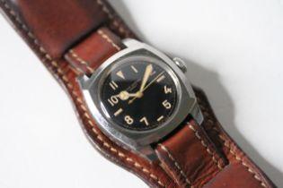 RARE VINTAGE ROLEX OYSTER 'ARMY' WITH ROLEX BUND STRAP CIRCA 1943, circular gloss gilt dial with