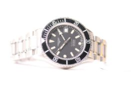 LONGINES ADMIRAL 200M DIVERS WATCH REFERENCE L3 602 4, circular dial with patina hour markers,