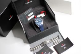 TUDOR BLACK BAY 58 BLUE REFERENCE 79030B BOX AND PAPERS 2020, circular blue dial with applied hour