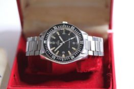 VINTAGE OMEGA SEAMASTER 300 REFERENCE 165.024 CIRCA 1964 WITH BOX, circular black dial with baton