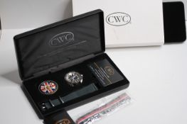 CWC LIMITED EDITION ROYAL NAVY CLEARANCE DIVER WRISTWATCH CIRCA 2020 W/BOX, CHALLENGE COIN,