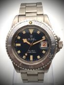TUDOR SUBMARINER BLUE SNOWFLAKE WRISTWATCH REF 7021/0, blue snowflake 7021/0 reference dating to