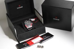 TUDOR BLACK BAY GMT REFERENCE 79830RB BOX AND PAPERS UNDATED CARD 2019, circular black dial with