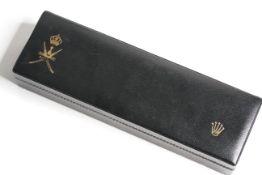 RARE ROLEX OMAN WATCH BOX, 265mm x 80mm x 48mm