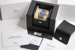 IWC MARK XVIII 'LE PETIT PRINCE' BOX AND PAPERS 2021 REFERENCE IW327016, circular sunburst blue dial