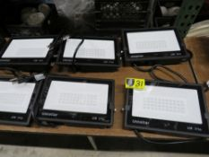 USTELLAR LED FLOOD LIGHTS- 2 PK W/ 2 REMOTES