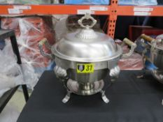 CHAFING DISH-5qt. ROUND (STAINLESS) W/ Food & Water Pan