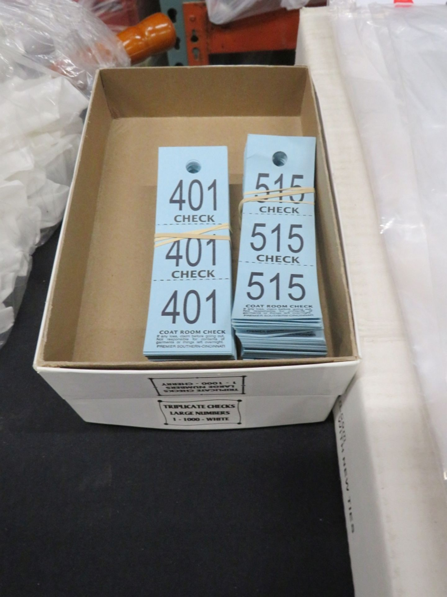 COAT CHECK TICKETS, 100 CT.
