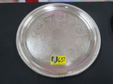 """TRAY-ROUND 15"""" (SILVER)"""