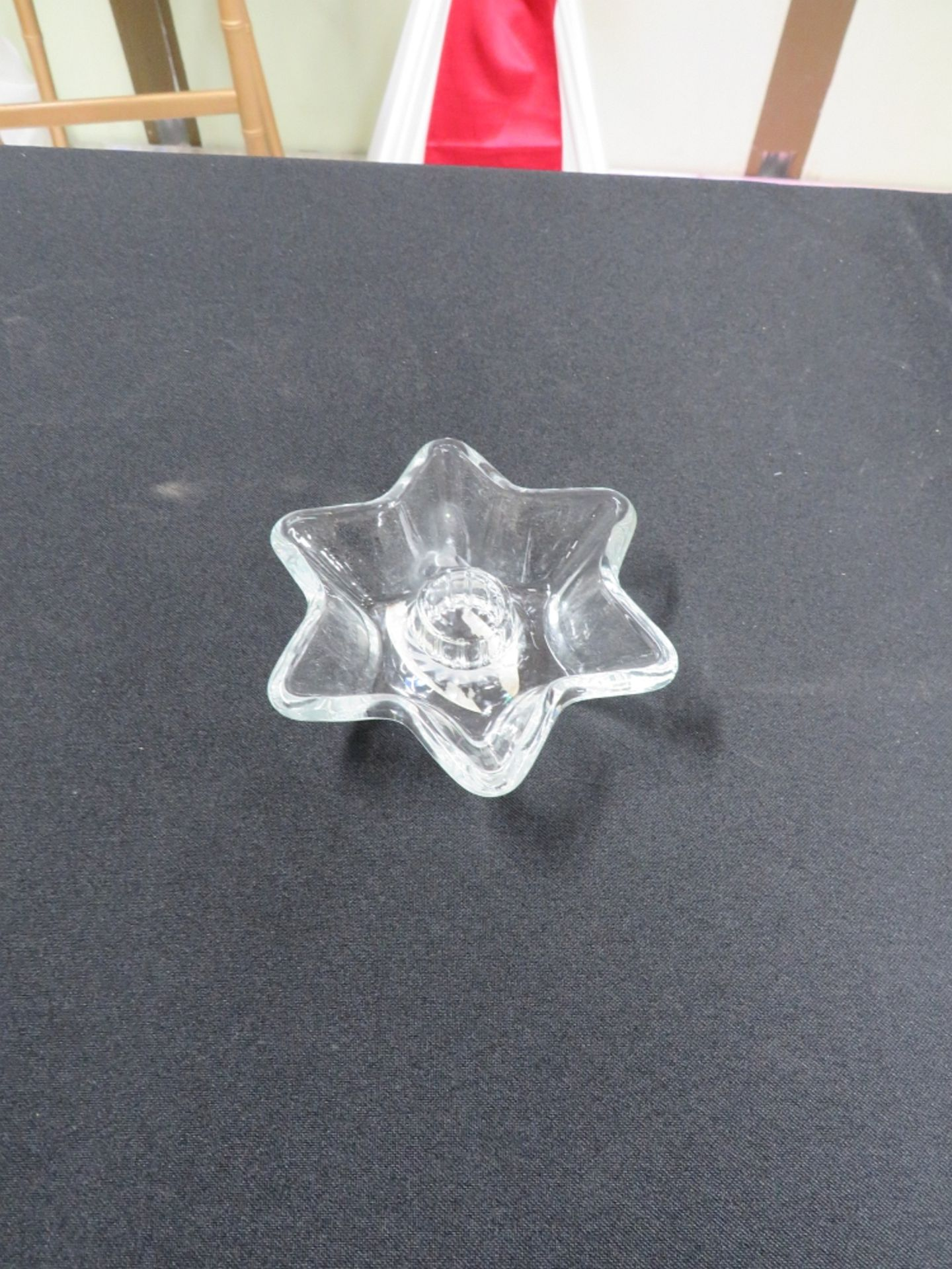 CANDLE HOLDER-GLASS (STAR SHAPE)
