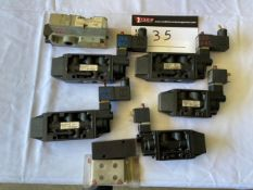 LOT OF ASSORTED 120V AND 24V AIR SOLENOIDS