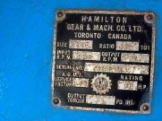 "LARGE GEAR BOX 126:1,RATIO; 40HP; 6"" DIAMETER OUTPUT; 2"" DIAMETER INPUT; VERY HEAVY"