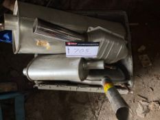 """LOT OF MISC MUFFLERS + CATALYTIC CONVERTER, 2 1/2"""" INLET"""