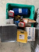 LOT OF A QUANTITY OF REFRIGERATION FILTERS, EMERSON LEBERT MONITORS, THERMAL CUPLER HEATER ASSEMBLY,