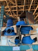LOT OF CAT 5E NETWORK CABLE, RIGGING FEE $