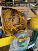 LOT OF ASSORTED CABLES, CAT 5E PLENUM CABLES, RIGGING FEE $