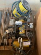 AIR HOISTS, 3 USED INGLESOL RAND AIR HOISTS, 1 USED 575 BROKEN COVER, RIGGING FEE $40.00