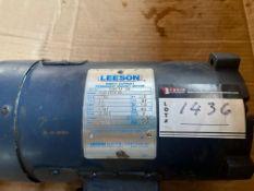 LEESON DC. PERMANENT MAGNET MOTOR; 1750 RPM, 90V, 5AMPS, 1/2HP