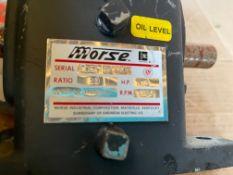 "MORSE GEARBOX, RATIO 20:1, C FLANGE, INPUT 5/8"", OUTPUT 1"""