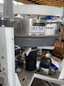 """CUSTOM PARTS FEEDER, PARTS ADJUSTS FROM, 30""""- 38"""" DIA WITH 6"""" SS BAND ON TOP INNER DRUM OSCILLATES"""
