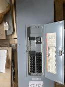 SQUARE D 42 CIRCUIT BREAKERS PANEL, HAS 22×15 AMP, 1×20 AMP, 1×40 AMP TWO POLE, 24 BREAKERS,