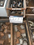 """LOT OF 27 BINS, CANLOCKS 2"""", BOSCH 9.6 V BATTERY CHARGER, 2"""" BRASS BALL VALVES, SS PLUGS, BLK PIPE"""