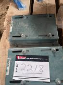 """DODGE MOTOR AND GEAR BOX, ADJUSTABLE MOUNTING PLATES, PN 122092, 8-1/2"""" X 10-1/2"""""""