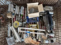 CRATE OF MISCELLANEOUS STAINLESS STEEL MANIFOLDS, SOME ALUMINUM CYLINDERS, DEVICE BOX STAINLESS