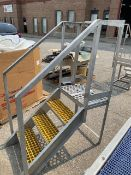 S/S LADDER WITH YELLOW PLASTIC INSERTS IN STEP
