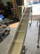 """ANGLE CONVEYOR BELT(WHITE), MAC AUTOMATION CONCEPTS, 230V, 3 PHASE, 9A AMPS (10'L X14""""W)"""