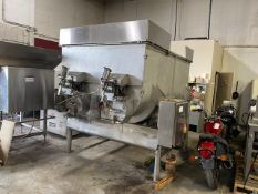 VERY LARGE DOUBLE RIBBON BLENDER, 162 CU FEET, (AS IS WHERE IS)