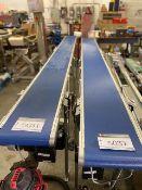 """NEW MONTECH CONVEYOR BELT(BLUE), ABM MOTOR, 230/460V, 0.98/0.49 AMPS (BELT 1 - 147""""L, BELT 2 - 130""""L"""