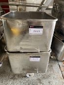 S/S BINS FOR TOTE DUMPER, 4' HIGH AND 300 LBS CAPACITY