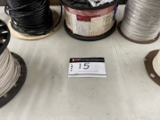 LOT/ (7) SPOOLS OF WIRE, FULL SPOOLS, T90, 10 GAUGE WHITE AND RED 6 X 300 METER SPOOLS APP AND T90
